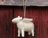 Lamb Angel - Needle Felted Sheep Ornament