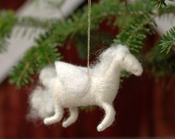 Pegasus - Needle Felted Ornament