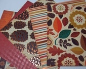 Harvest Gathering Paper Pack - set of 20 6x6 Papers