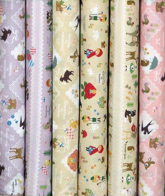 November Books Collection - Japanese Cute Fabric - Last 6 Fat Quarter Bundle