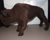 American Buffalo Bison Stuffed Animal Pattern to SEW pre printed nice white paper