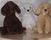 Chocolate Lab, Golden Retriever, Bichon Frise Puppy INSTANT DOWNLOAD stuffed animal pattern to Sew