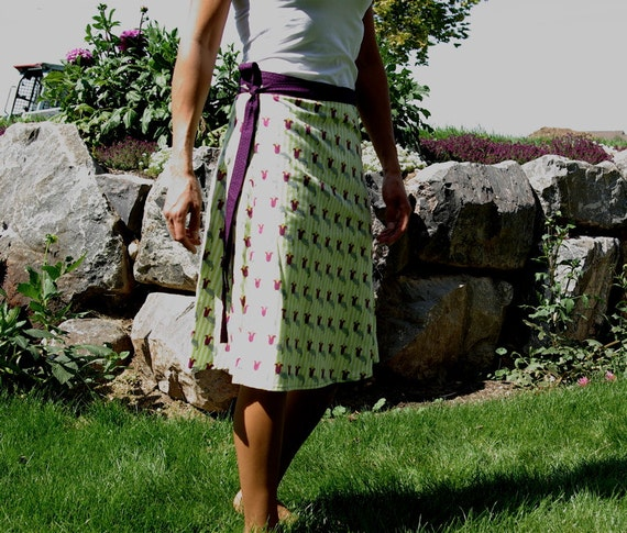 Thelma, wrap skirt, size M/L