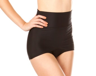 Lillian Black Retro Vintage High Waist Bikini Bottom