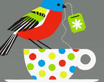 painted bunting large limited edition print