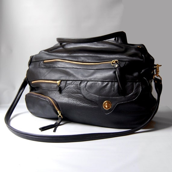 25% off SALE - NEW STYLE - carry on travel bag/carry-on bag in black