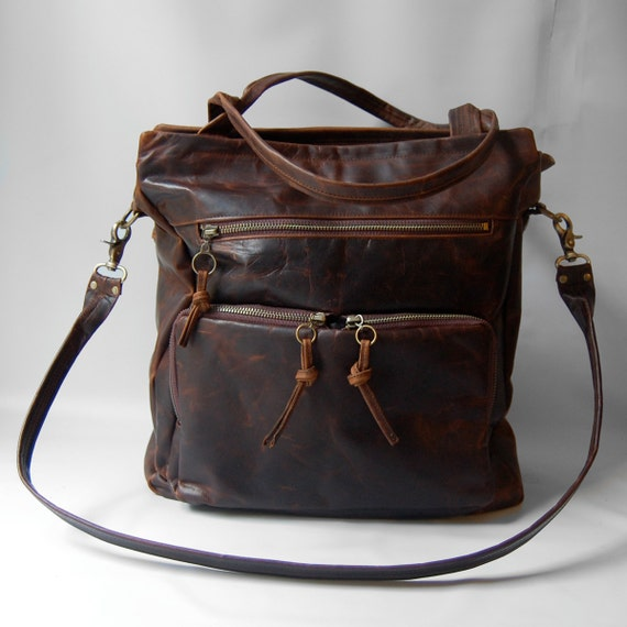 SALE - Tall Willow tote bag in antique walnut wood