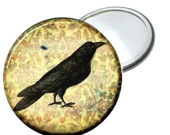 "Damask Crow image 2.25"" Mirror"