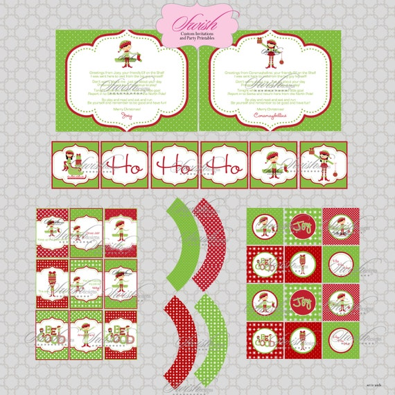 SALE:  Christmas Elf  from the North Pole Holiday Printables
