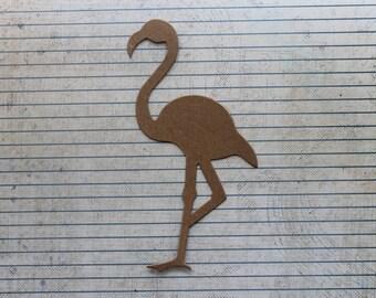 3 Bare chipboard die cuts tall flamingo diecuts