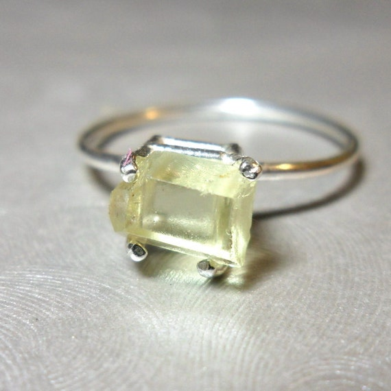 Small Yellow Apatite Stackable Specimen Ring