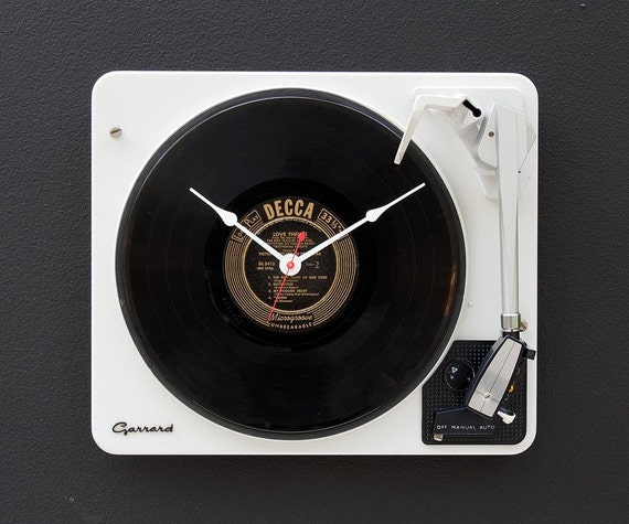 Recycled Garrard Record Player clock