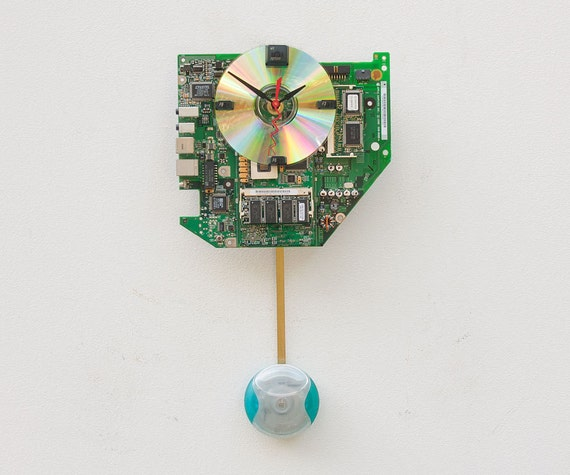 Recycled Apple iMac Motherboard Clock