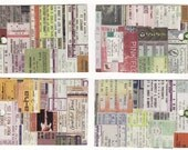 Concert ticket gift tags hang tags - original paper collage handmade paper tags CFEST FSB RecycleParty