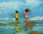 Print of Beach 74 10x10  by Roz