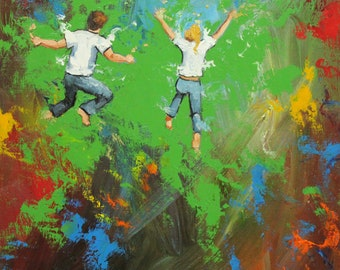 Print Leap 347 10x10 inch Print from oil painting by Roz