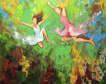 Print Leap 350 10x10 inch Print from oil painting by Roz