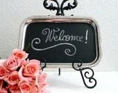 Magnetic Chalk Board Blackboard Chalkboard Bulletin Memo Message Board Menu Favor Weddings Receptions Decor Bridal Shower Baby Hostess Gift