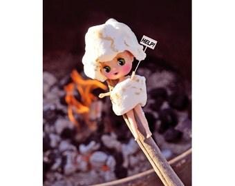 marshmallow blythe print aceo size STICKY SWEET PETITE
