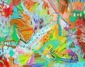 MOM LAUNDRY paper print by Jennifer Mercede 11x14in