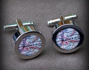 Rome Vintage Map Cuff Links - Great Gift