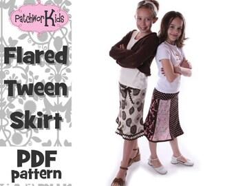 Tween Flared Skirt Pattern Ebook Sizes 6-14 Teen