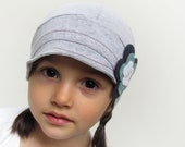 Bluebell hat. Gray comfy kids hat. Children accessories.