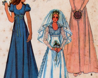 Vintage Sewing Pattern McCall's 3770 Bridal Gown  Size 10 Bust 32.5 Complete