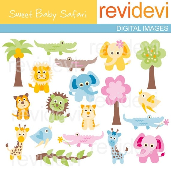 Reserved.. Sweet Baby Safari 07198.. in vector eps format..green lion and blue giraffe changed into pink