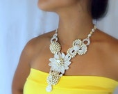Crochet Statement Necklace, The Promise