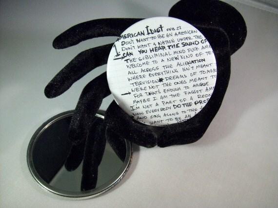Green Day - pocket mirror  -   repurposed