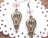 Good Idea  - light bulb earrings antiqued bronze, smart, chic