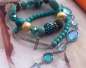 Gypsy Blue-Three Piece Bracelet Set