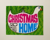 """Vintage """"Christmas at Home"""" poster"""