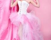 Pastel Cotton Candy Pink and White trashy bustle TuTu MTCoffinz ALL SIZES