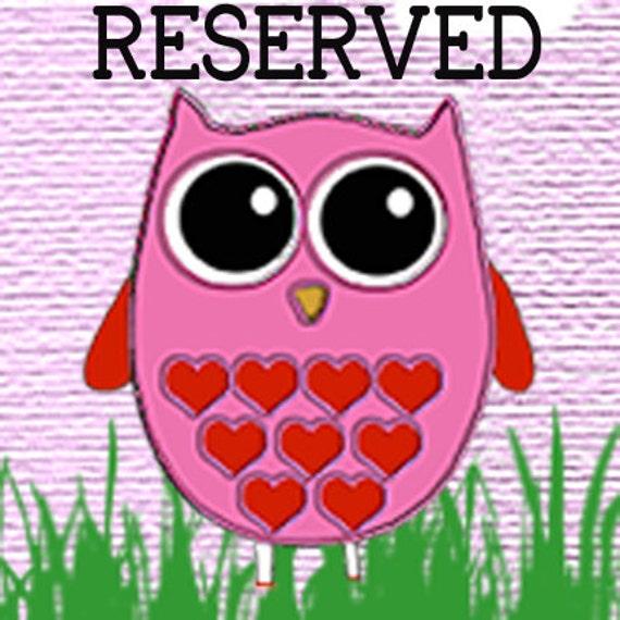 Reserved Listing For missamoure