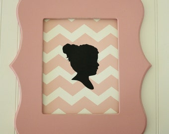 Personalized Silhouette Chevron Print made from your photo by Simply Silhouettes - Custom Silhouette Silhouette Portrait