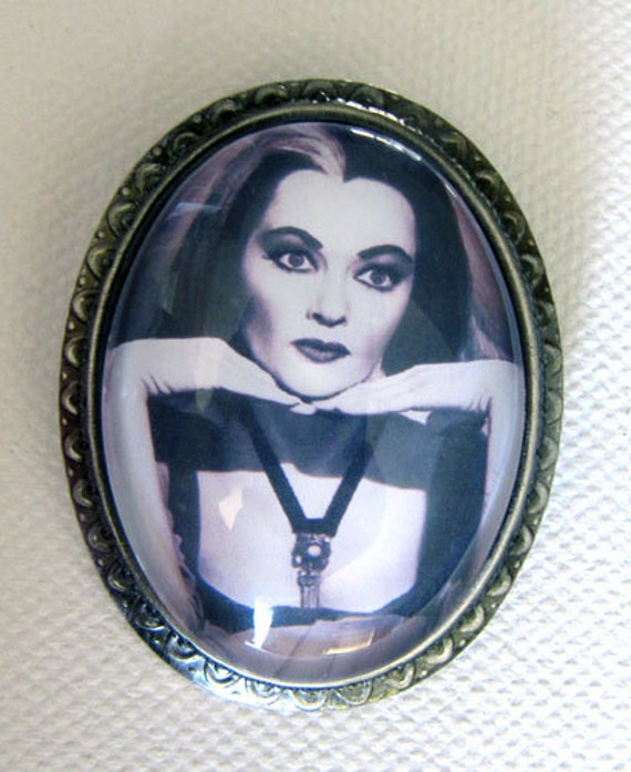Lily Munster Cameo Brooch and Pendant