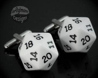 Cufflinks - D20 Magic the Gathering Dungeons and Dragons