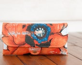 SmartPhone Purse 12x - Ultimate Wallet Clutch with ID pocket /  Poppy Fever in Rustic Orange -- PREORDER