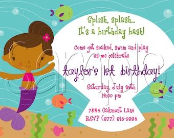 25 5x7 Mermaid Birthday Party Invitations