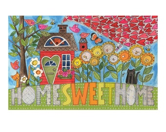 Home SWEET Home - 10 x 8 GICLEE PRINT, collage, mixed media, home, Susan Black