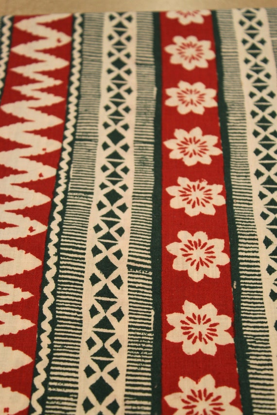Cute, Polynesian Print Fabric - 2 Yards
