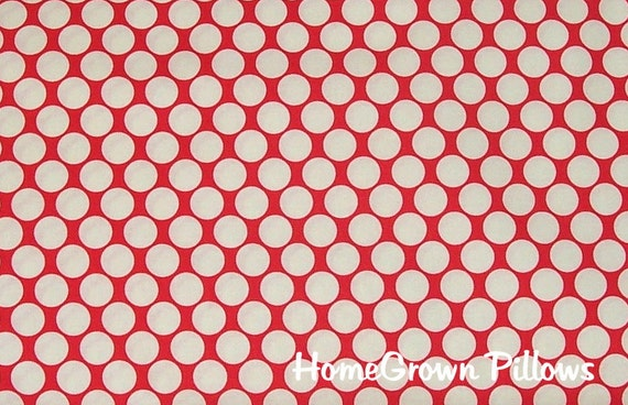 Amy Butler Fabric, Full Moon Polka, Cherry, Red, - 1 YARD