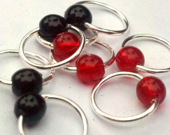 Hot Coals snag-free lace stitch markers
