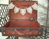 Rustic Wedding Card Box with Burlap CARDS Banner