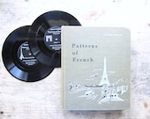 Vintage 1960's French School Book and Records Set