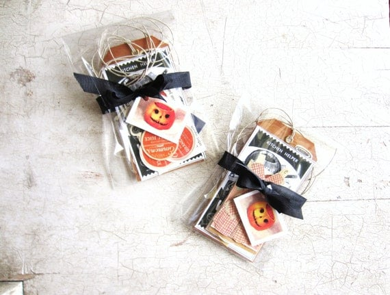 Vintage Halloween Trick or Treat Scrapbook Embellishments, Gift Tags, Table Decoration Set or Lot