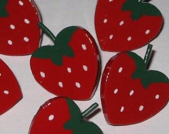 Strawberry Push Pins for Bulletin Board