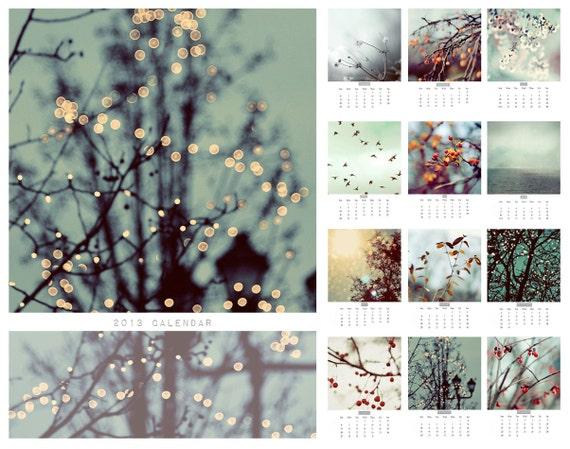 SALE 2013 Calendar, Fine Art Photography, Lights and Magic,  5x7 Desk Calendar, Surreal, Nature Photography, Landscape